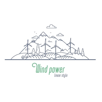 Concept d'énergie éolienne