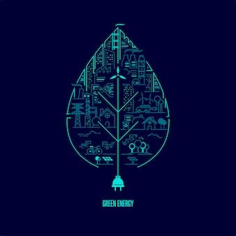 Concept d'énergie verte
