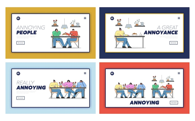 Concept d'ennuyeux dans les communications d'amis.