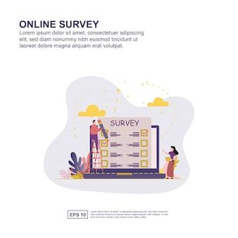 Concept d'enquête en ligne
