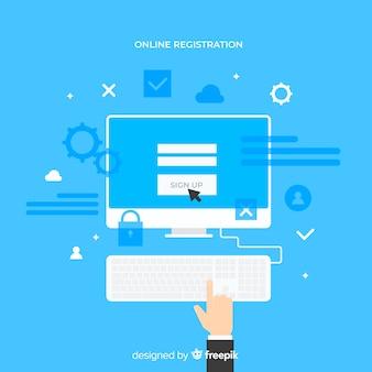 Concept d'enregistrement en ligne moderne