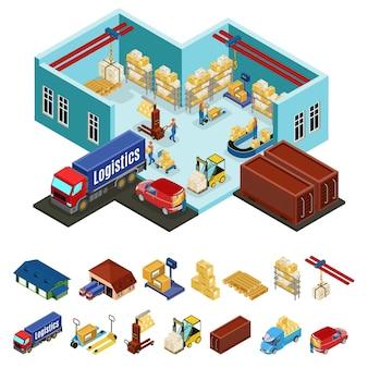 Concept d'entrepôt isométrique