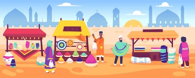 Concept d'entreprise de bazar arabe