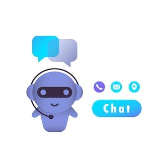Concept D'entreprise De Chatbot. Dialogue, Message. Vecteur Sur Fond Blanc Isolé. Eps 10 Vecteur Premium