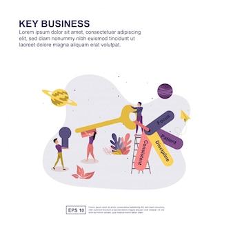 Concept d'entreprise clé