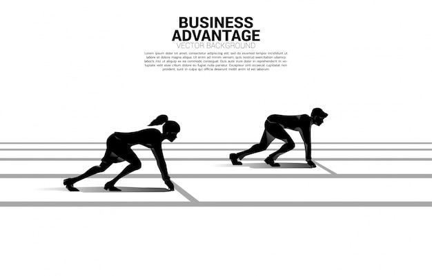 Concept d'entreprise de la concurrence entre les sexes.