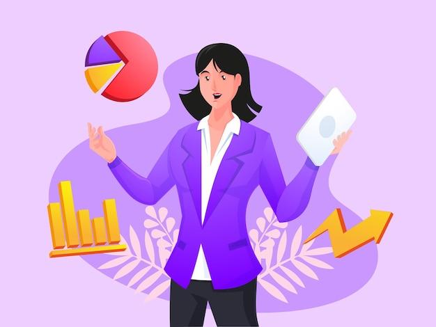 Concept d'entreprise de consultant en analyse d'affaires