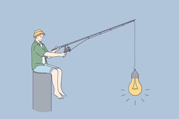 Concept d'entreprise de démarrage de nouvelles idées d'innovation