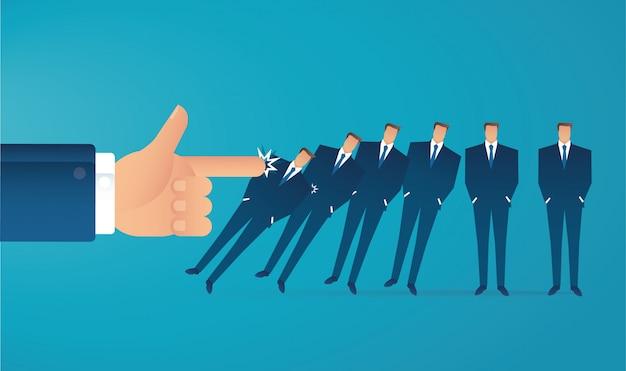 Concept d'entreprise effet domino
