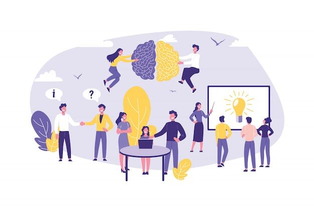 Concept d'entreprise d'expertise, d'audit, de conseil, de travail d'équipe et de partenariat.