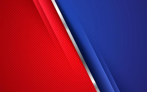 Concept d'entreprise de fond abstrait rouge et bleu