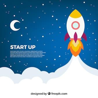 Concept d'entreprise avec fusée