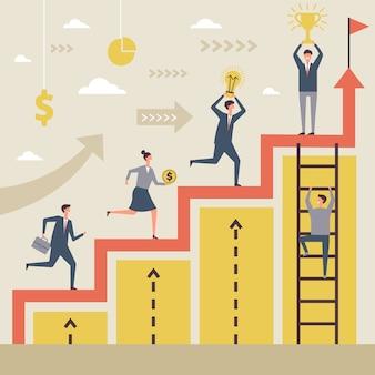 Concept d'entreprise des gagnants
