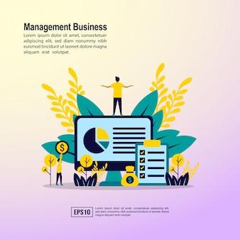 Concept d'entreprise de gestion