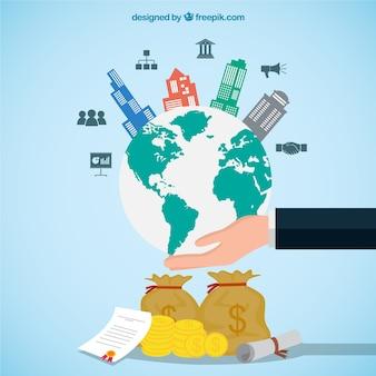 Concept d'entreprise international