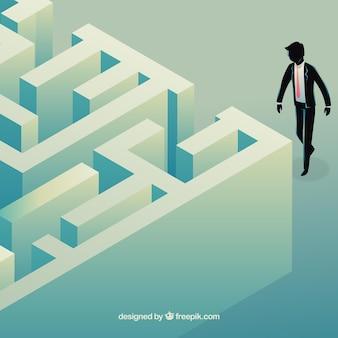 Concept d'entreprise avec le labyrinthe