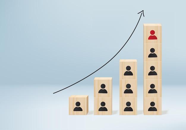 Concept d'entreprise minimal de rendu 3d. leadership pour de nouvelles idées.