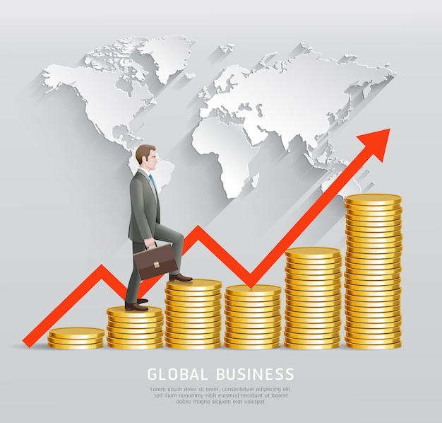 Concept d'entreprise mondial