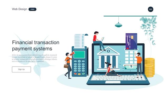 Concept d'entreprise pour la banque en ligne