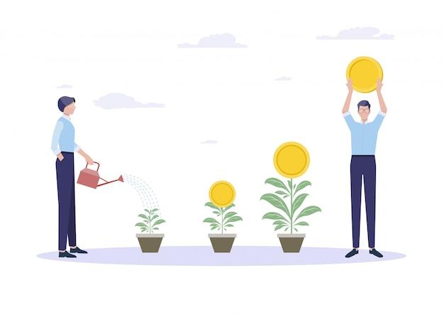 Concept d'entreprise pour la croissance.