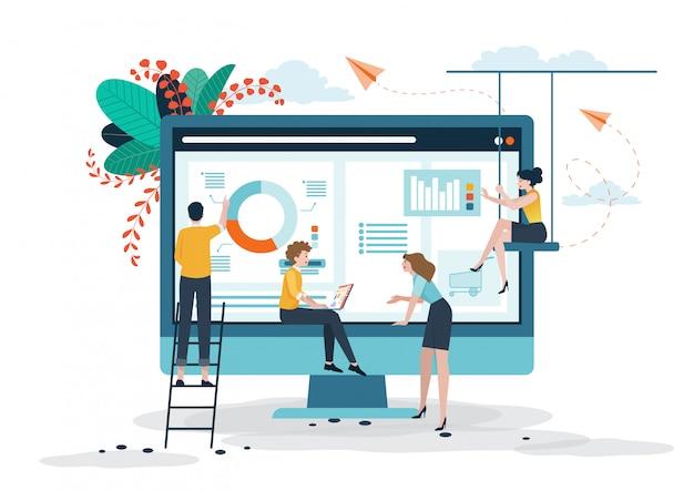 Concept d'entreprise pour une équipe collaborative.