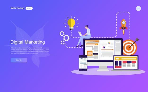 Concept d'entreprise pour le marketing numérique.