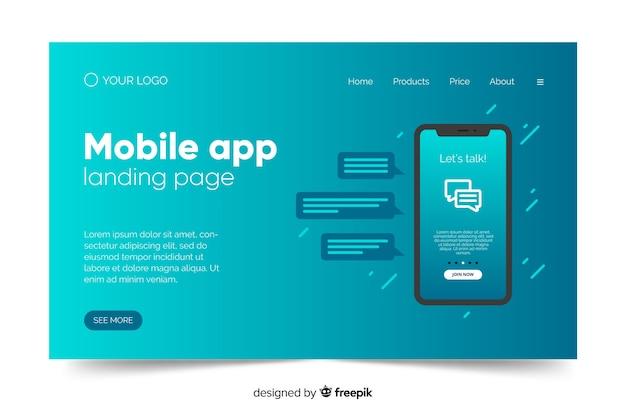 Concept d'entreprise pour la page de destination avec téléphone