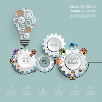 Concept d'entreprise pour le travail d'équipe.