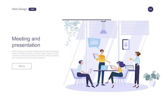 Concept d'entreprise pour le travail d'équipe