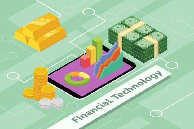 Concept d'entreprise de technologie financière