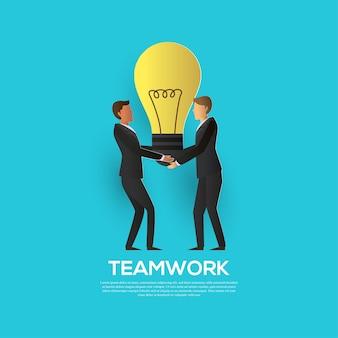 Concept d'entreprise de travail d'équipe