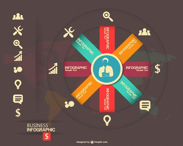 Concept d'entreprise de vecteur libre infographie