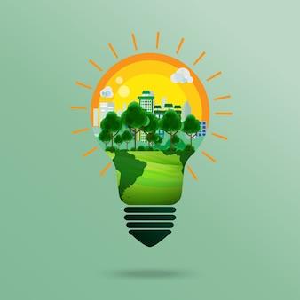 Concept d'entreprise verte.