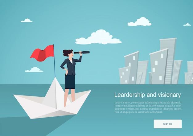 Concept d'entreprise de vision. modèle de fond
