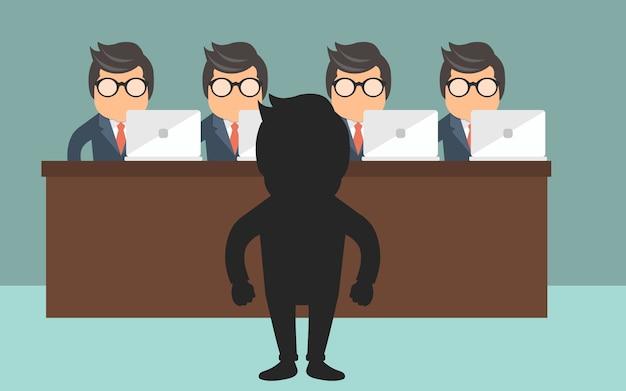 Concept d'entrevue d'emploi