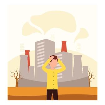 Concept d'environnement et de changement climatique