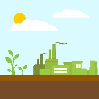 Concept de l'environnement vert