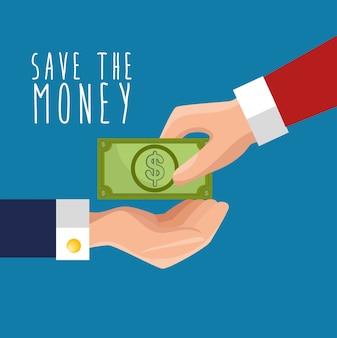 Concept d'épargne et d'argent