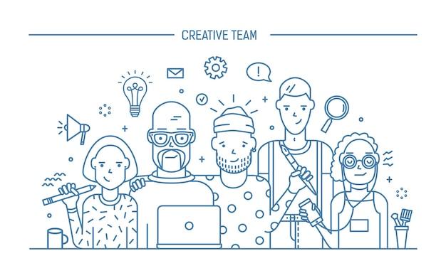 Concept d'équipe commerciale créative