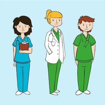 Concept d'équipe professionnelle de la santé