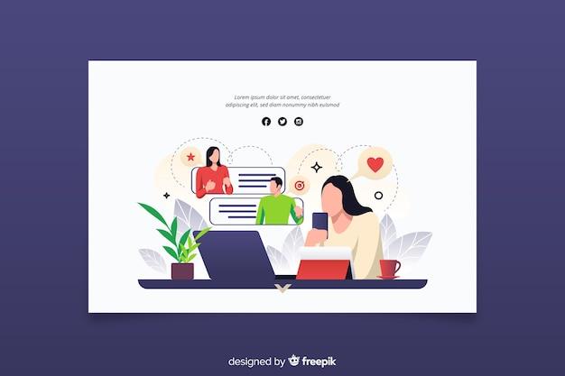 Concept d'équipes de connexion de pages de destination