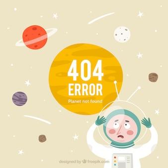 Concept d'erreur 404 avec astronaute à plat