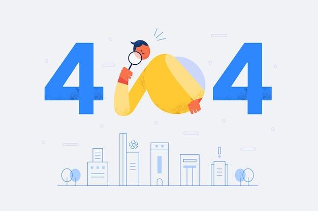 Concept d'erreur 404 au design plat