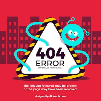 Concept d'erreur 404 avec monstre et signe