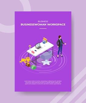 Concept d'espace de travail pour femmes d'affaires