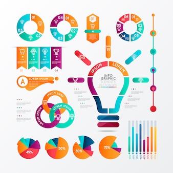 Concept d'étapes d'infographie