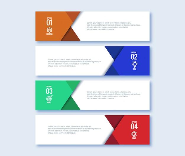 Concept d'étapes infographiques créatif