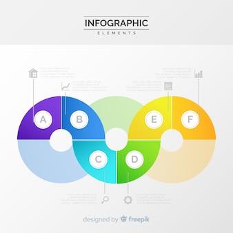 Concept étapes infographiques avec dégradé de couleurs