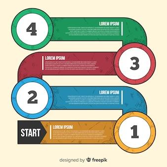 Concept d'étapes infographiques