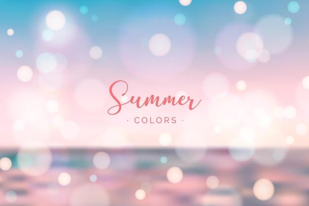 Concept d'été bonjour floue